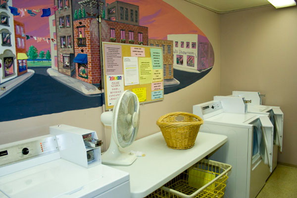 Laundry Room - Decorated Differently on Each Floor
